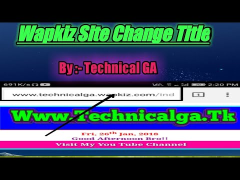 How to Change Title In Wapkiz Site|| wapkiz site Ka title Kaise Badle||Technical GA
