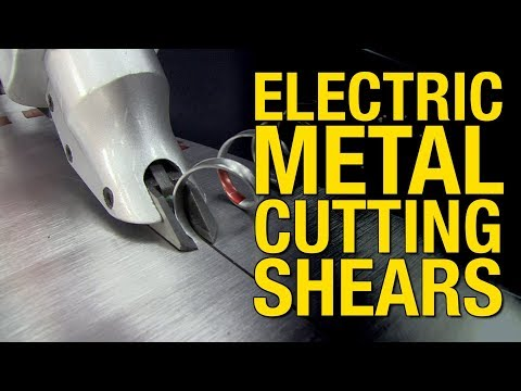 Slice Through Sheet Metal Up to 18 Gauge -  Electric Metal Cutting Shears from Eastwood