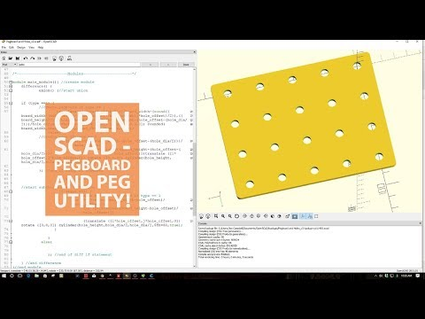 Open SCAD - Pegboard and Holes Utility!
