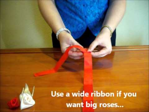 How To Make Ribbon Roses