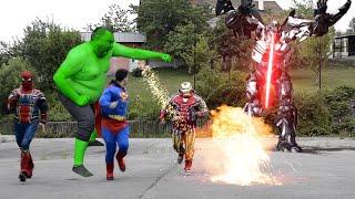 Superheroes VS Transformers