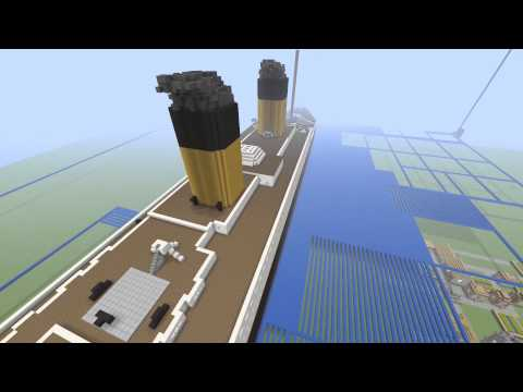 HUGE MEGA BUILD TITANIC on Minecraft!!