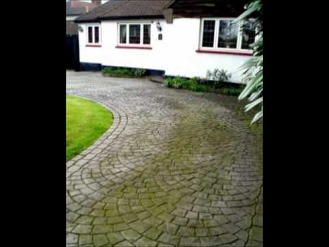 Driveway cleaning and imprinted concrete re-sealing