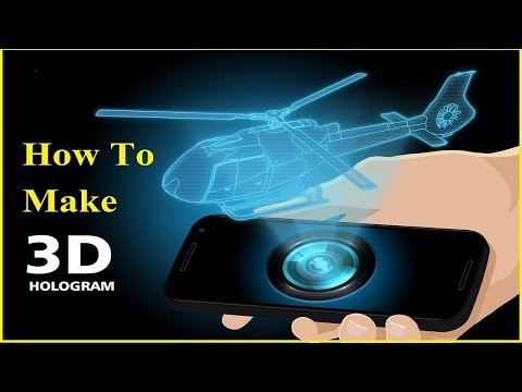 Turn your smartphone into a 3D hologram projector