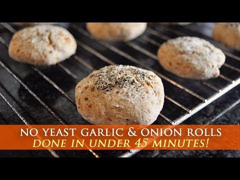 Homemade Garlic & Onion Bread Rolls Recipe