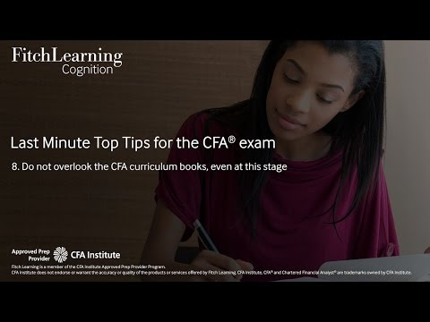 Do not overlook the CFA curriculum books, even at this stage