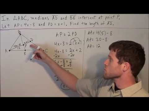 Medians and Centroid of a Triangle - Geometry