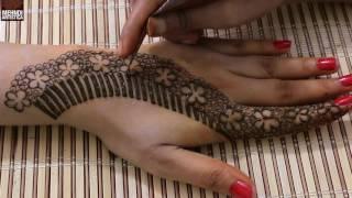 Unique Floral Mehndi Designs For Hands   Upper Side Hand Easy henna Mehndi Design