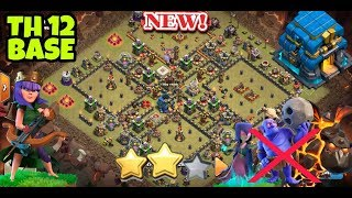 th 12 war base 2018 | clash of clans | with replay