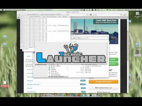 Starta Tekkit Server till Minecraft på Mac OS X - Tekkit Server 3.1.2