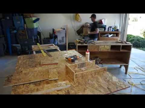 $50 OSB Plywood Tool Hutch Cabinet