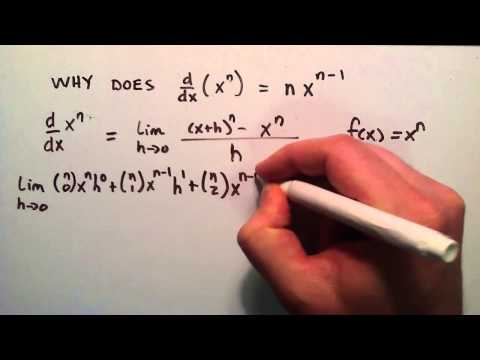 The Proof - Why Does d/dx (x^n) = nx^(n-1) , Part 4