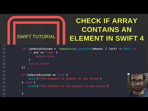 Check if array contains an element in Swift 4