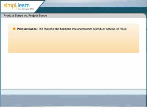 Project Scope vs Product Scope | Project Scope management | PMP Exam Prep Online