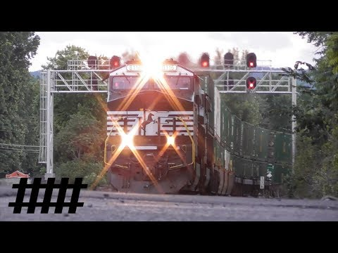 Cove, PA PT 116.0 Railroad St Railroad Crossing with NS Intermodal Train & Color Light Signals