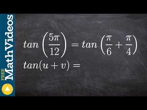 Algebra 2 Learn how to find the exact value of an angle using sum formula for tangent, tan(5(pi)/12)