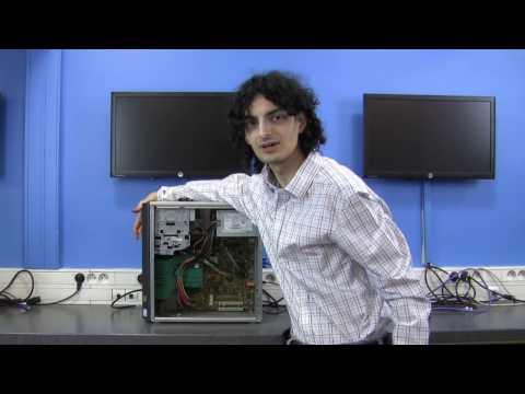 Nice spark with an USB killer - Old Fujitsu Siemens desktop computer