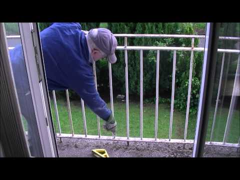 removing rust and painting Julliets metal balcony