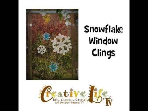 How to Make Snowflake Window Clings by Linda Peterson