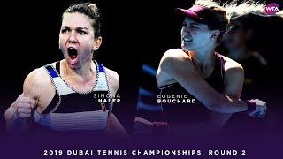 Simona Halep vs. Eugenie Bouchard | 2019 Dubai Second Round | WTA Highlights