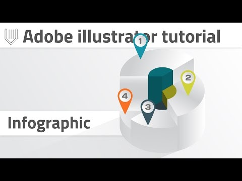 Advanced 3d infographics in Adobe illustrator. Convert pie graph into 3d shape