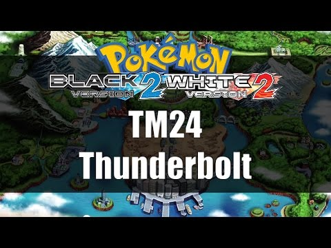 Pokemon Black 2 & White 2 | Where to get TM24 Thunderbolt