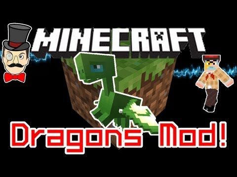 Minecraft DRAGONS Mod! Fly & Tame a Dragon and Send Mobs Sky High!