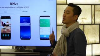 Samsung Bixby AI assistant demo for the Galaxy S8 and S8+