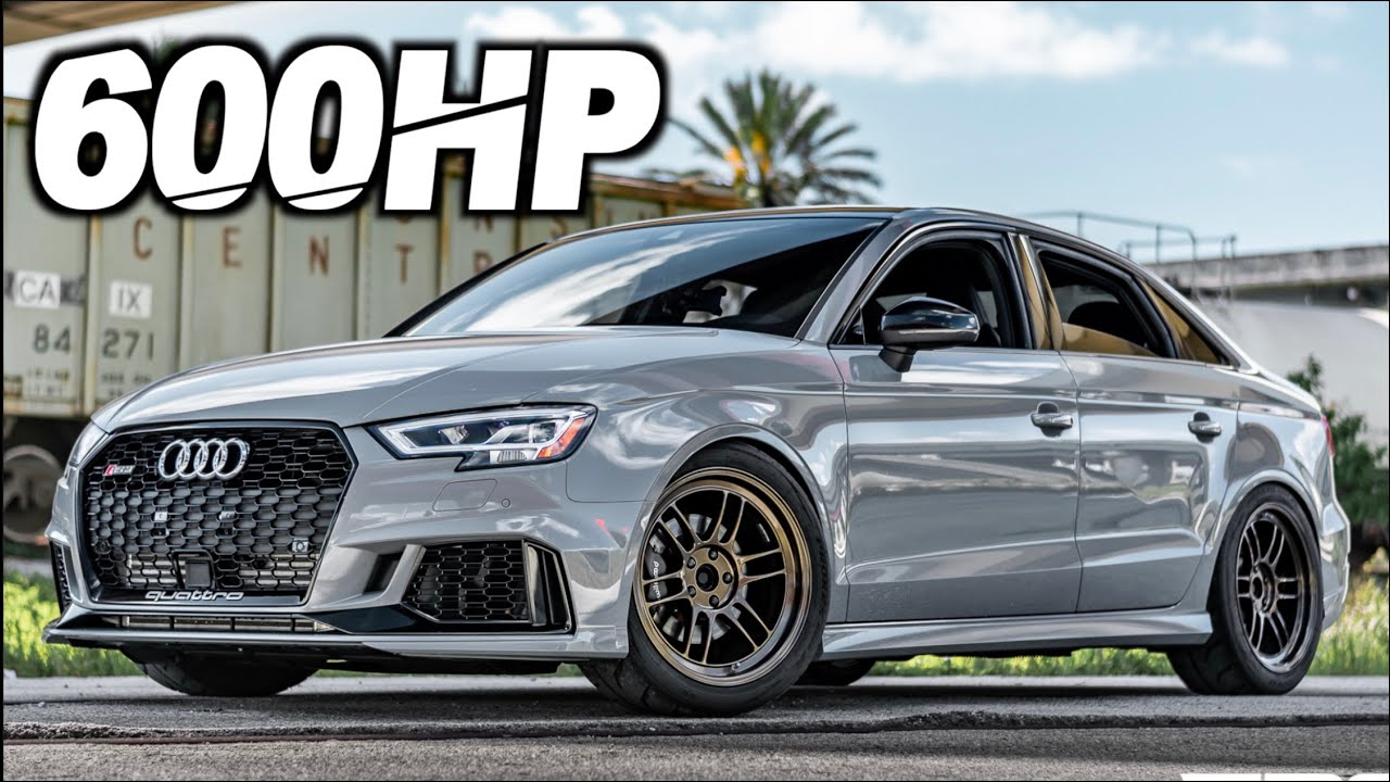 """600HP Audi RS3 """"Mini Turbo R8""""  - The Perfect Daily Driver? (2.5s 0-60MPH Pulls 1.3G-Force!)"""