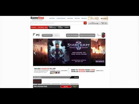 Learn how to use  www.GameStop.com website in simple steps.