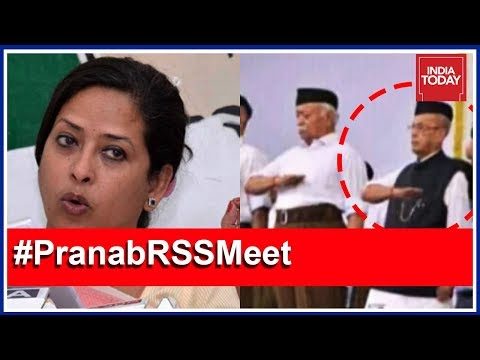 Pranab's Daughter Slams BJP, RSS For Morphed Photo Of Pranab Taking RSS Oath