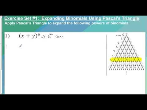 Lesson 9 6   Binomial Expansion using Pascals Triangle
