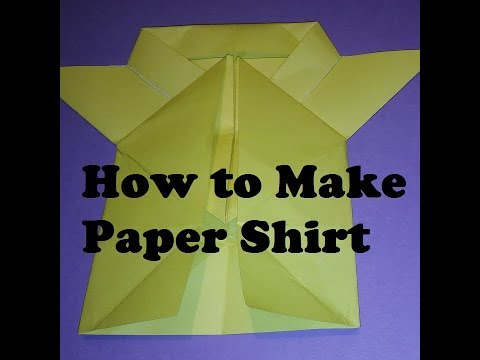 How to Make Paper Shirt - Origami Paper Shirts || Paper Shirts for Children