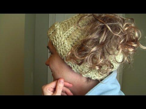Crochet a pony tail hat, step-by-step