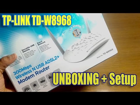 TP-LINK TD-W8968 Wireless N USB ADSL2 Modem Router Unboxing + Full Setup + Speed Test [HINDI]