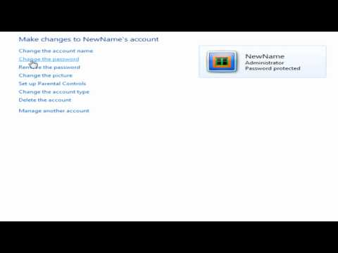 How to Change Account Password in Windows 7