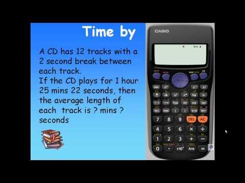Calculate Time by CASIO Calculator