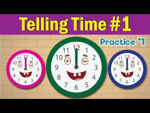 Learn to Tell Time #1 | Telling the Time Practice for Children | What's the Time? | Fun Kids English