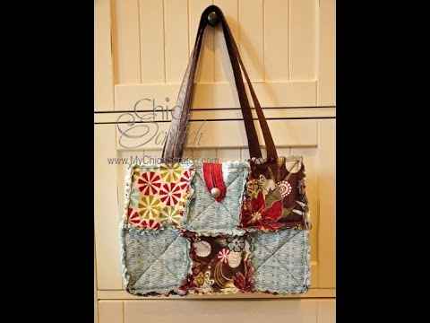 Rag Quilt Purse with the Big Shot Video 1
