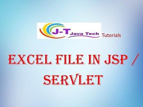 JSP /Servlet Excel File Example