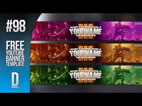 BO3 YouTube Banner Template Download 98 - Free Photoshop Download