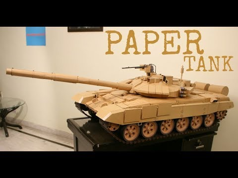 6.5 ft. Long PAPER MODEL (Cardmodel) of T90 Bhishma Tank