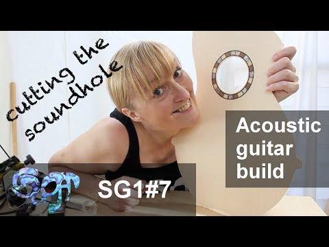 SuGar SG1 acoustic guitar build part 7: Cutting the soundhole