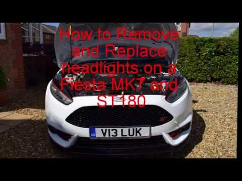 How to remove and replace headlights on a ford fiesta mk7 and st180