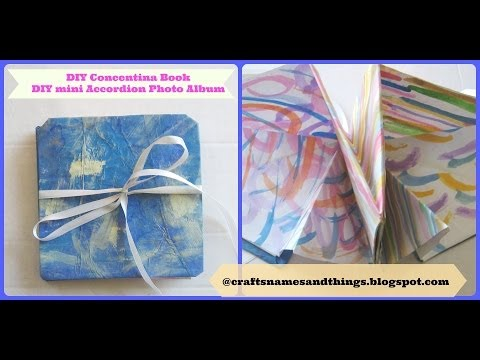 How to make a Squash Book / DIY Mixed Media Concentina Book/ DIY Mini Accordion Photo Album Part 1