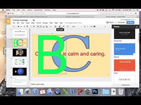 Word Art Google Slides
