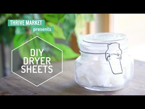 How to Make Your Own All-Natural Dryer Sheets