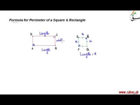 Formula for Perimeter of a Square & Rectangle