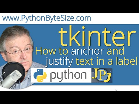 How to anchor and justify text in a Python tkinter label