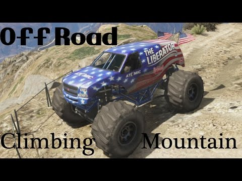 GTA 5 Off Road Climbing Mountain In The Liberator [Monster Truck] GTA V